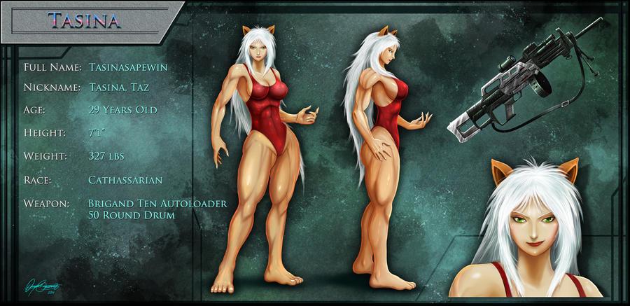 Character Sheet: Tasina by Serathus