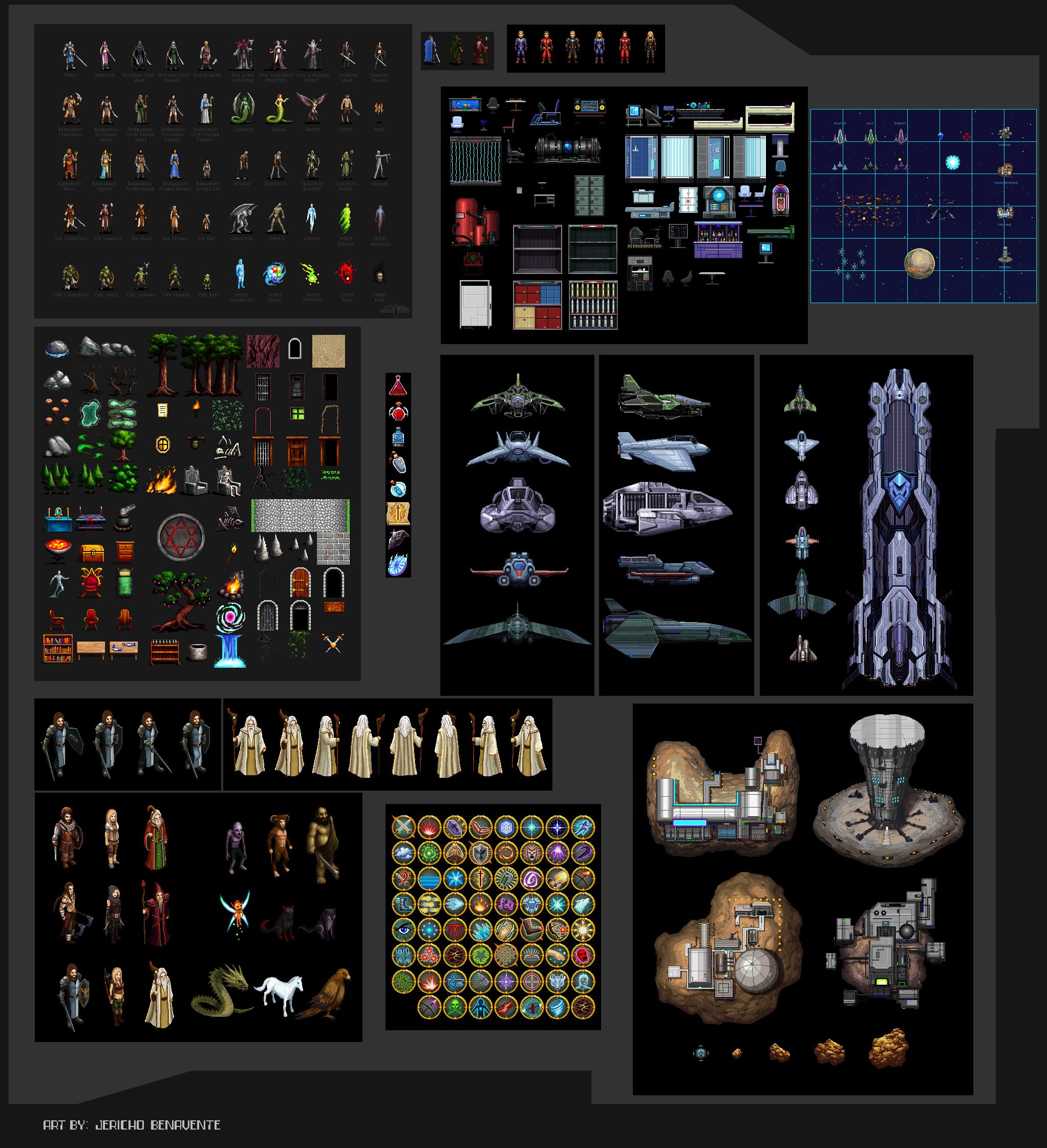 Sample Game Sprites by Serathus