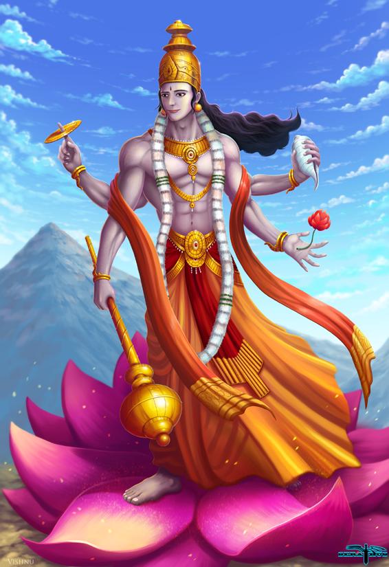 vishnu commission by serathus on deviantart