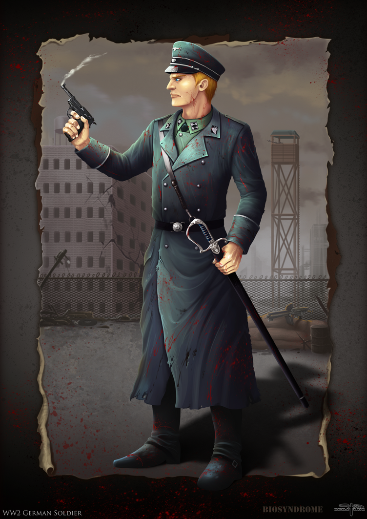 WW2 German Soldier (Biosyndrome) by Serathus