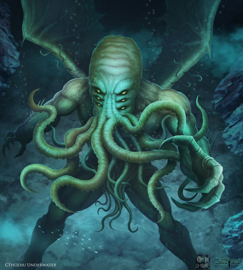 Pastafarisme - Page 2 Cthulhu_project____cthulhu_underwater_by_serathus-d9hjo40