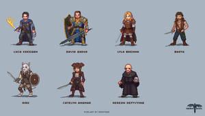 Pixel Mythos Commissioned Sprite Sheet
