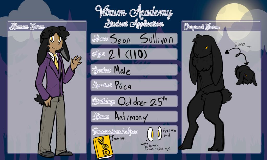 Vitrum Academy - Student App - Sean Sullivan by Chocolatewoosh