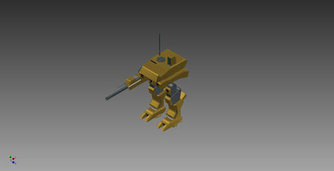 Cad Project: GDI Assault Walker (Titan) by asiangamer101