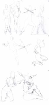 Yuffie Kisaragi cosplay - sketch 1min