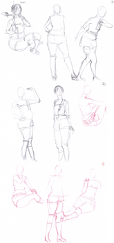 Yuffie Kisaragi cosplay - sketch 2min