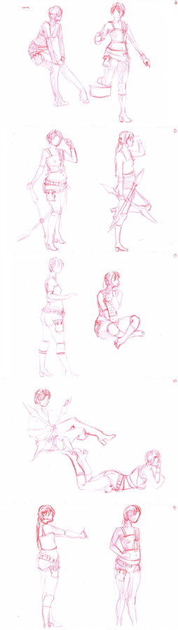 Yuffie Kisaragi cosplay - sketch 5min