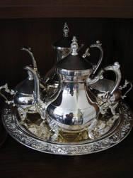 Silver Tea Set by LithiumStock