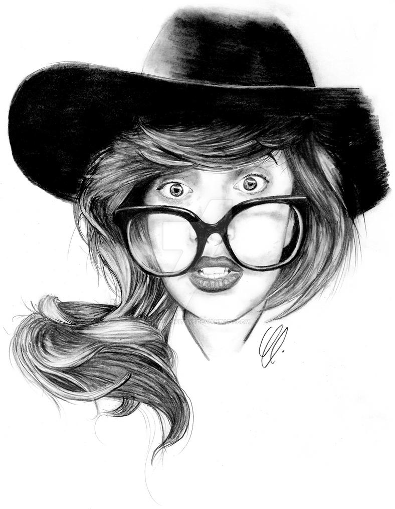 Lady Gaga (Nerd Face) by thebadkitty5