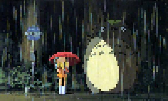 Satsuki, Mei and Totoro! [My Neighbour Totoro]