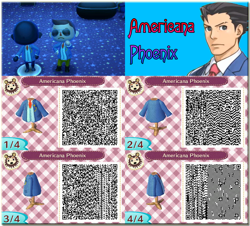 QR Animal Crossing New Leaf: Americana Phoenix by One-Eco
