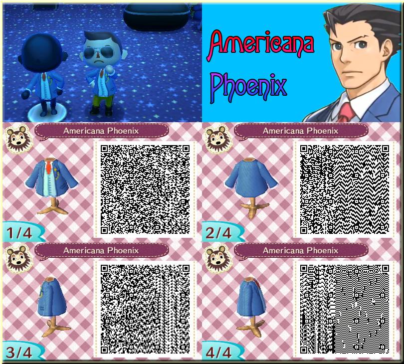 QR Animal Crossing New Leaf: Americana Phoenix by One-Eco