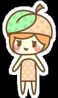 Teeny chibi peach by momobee