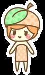 Teeny chibi peach
