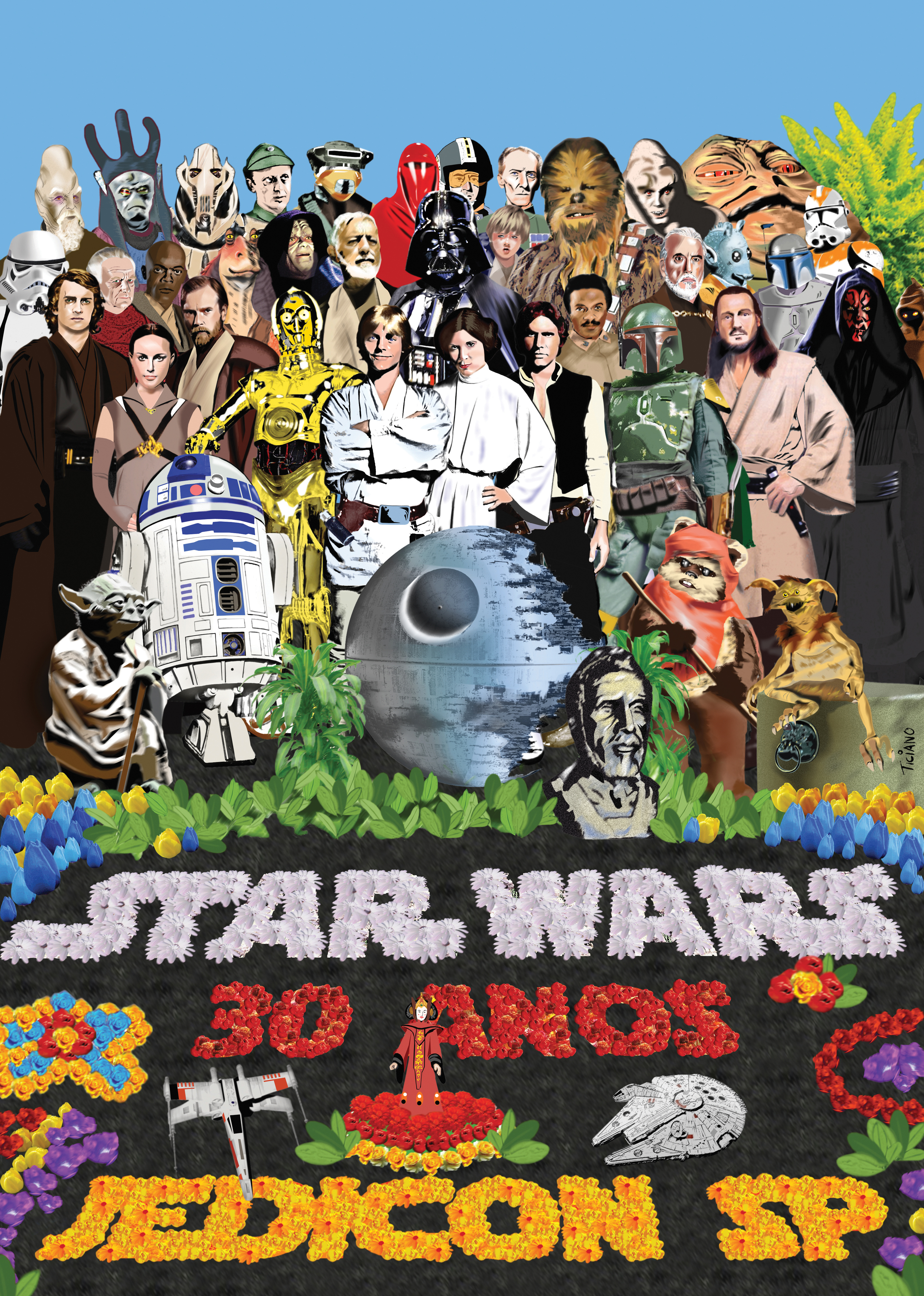 Star Wars Beatles by Ticiano