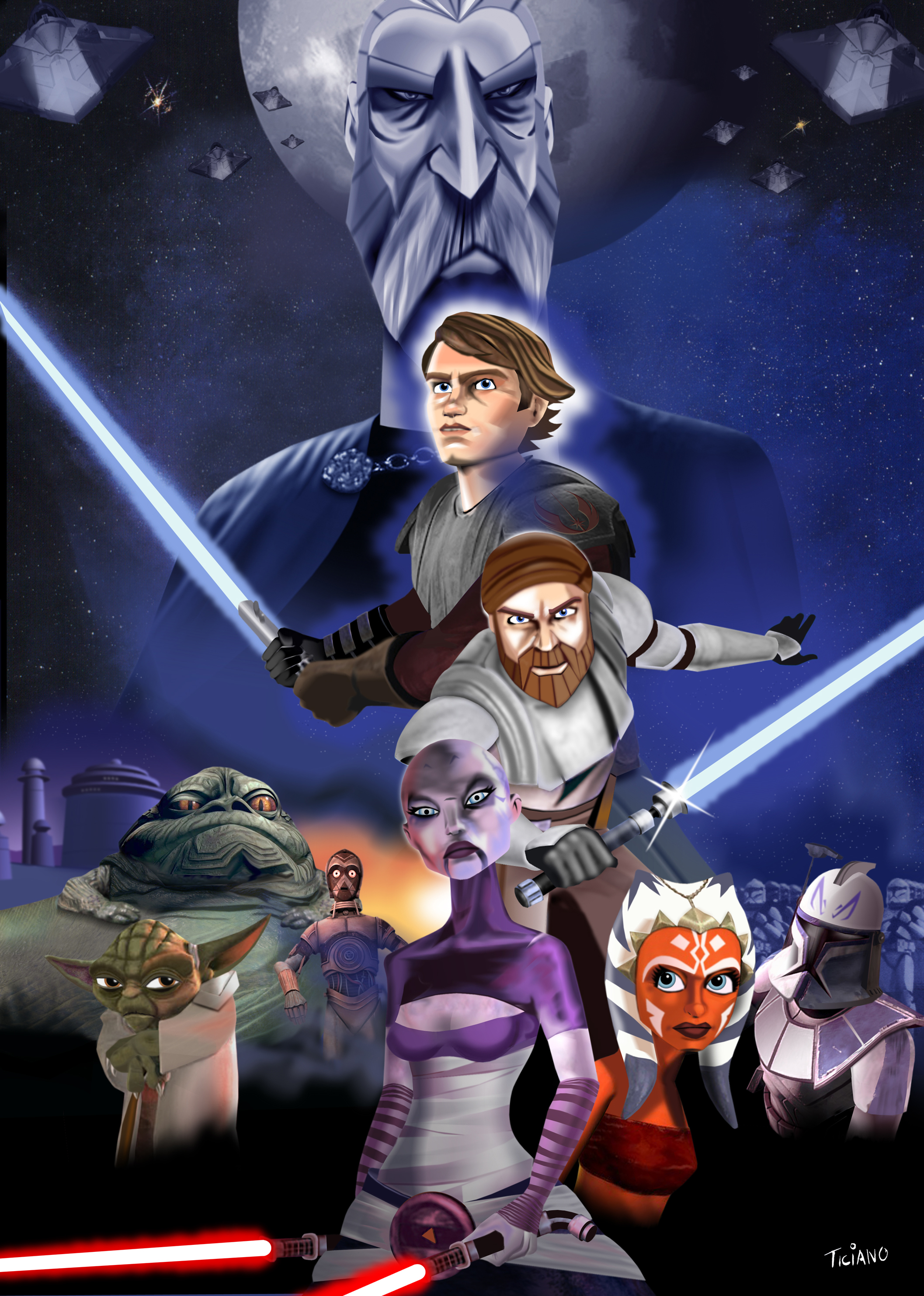 The Clone Wars by Ticiano