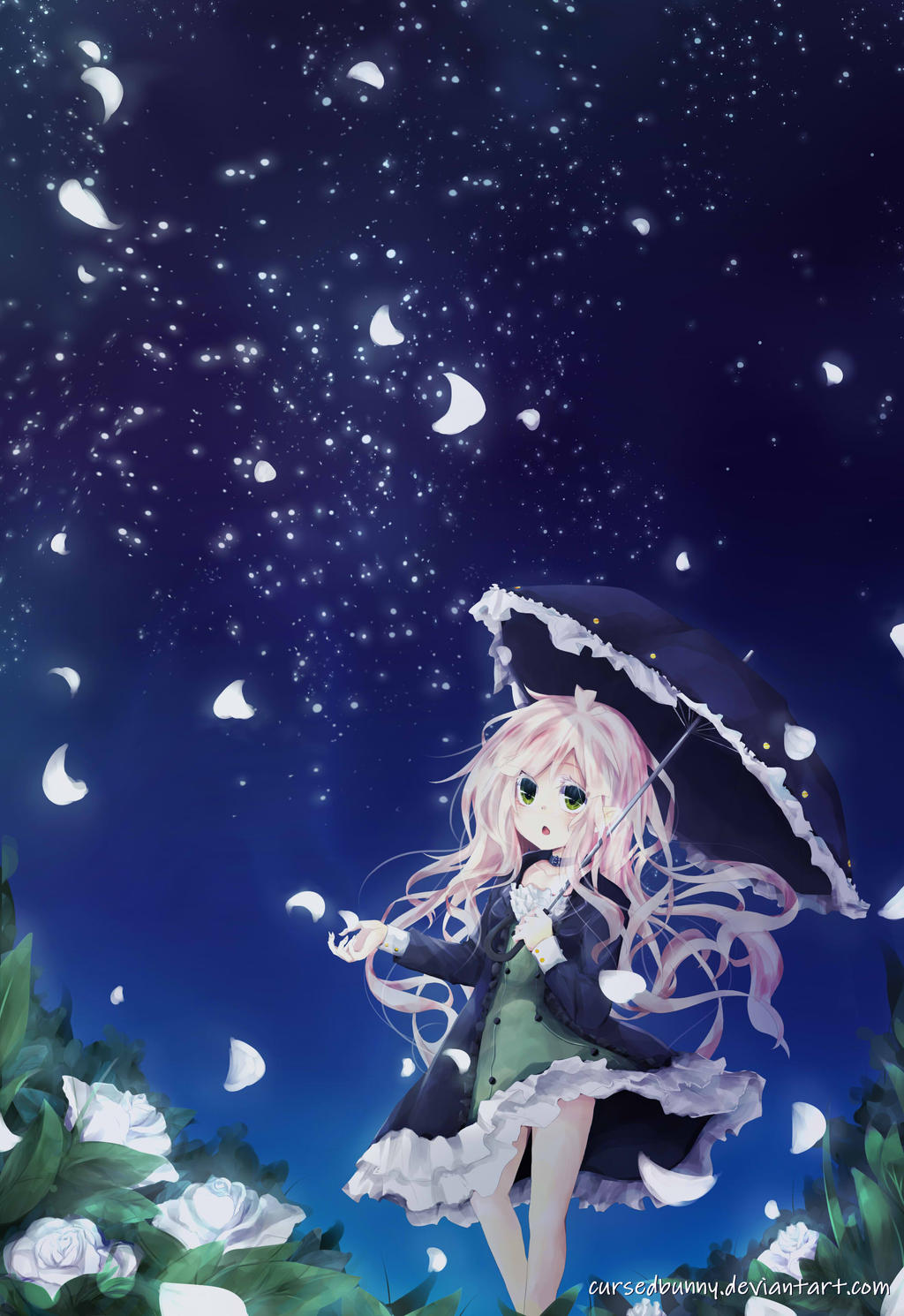 Starry night anime wallpaper