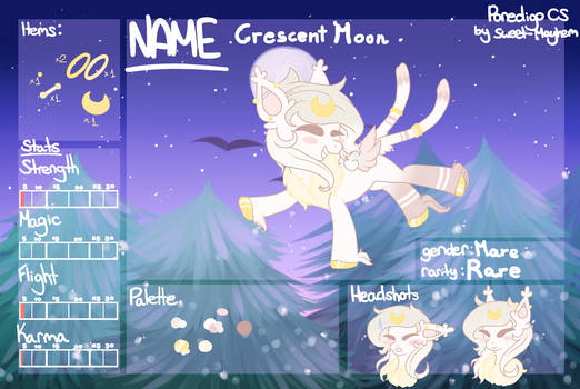 Crescent Moon Ref Sheet
