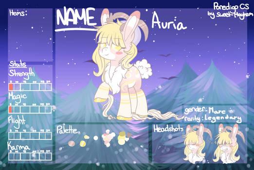 Auria Ref Sheet