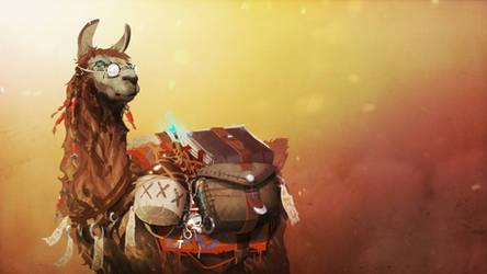 Larry the Llama by SteveGibson