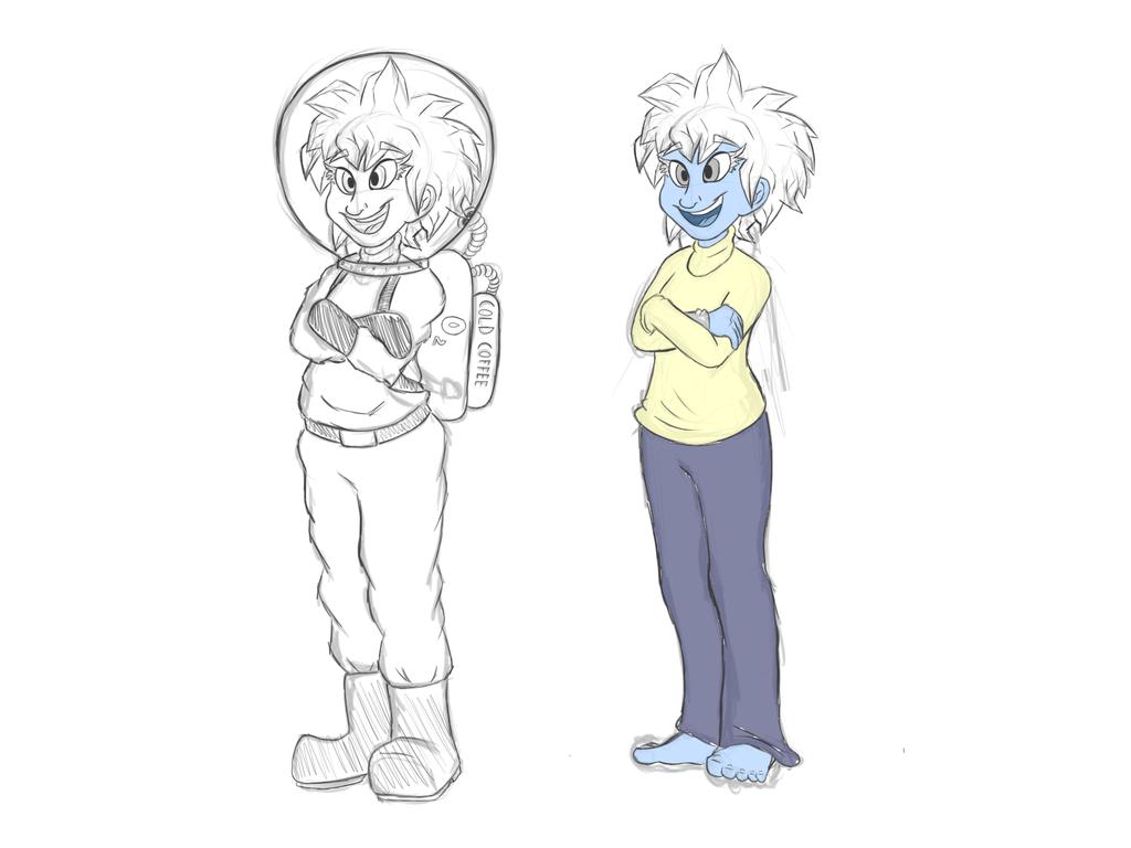 Chica de hielo by deoix