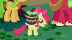 Apple Bloom with cake on back
