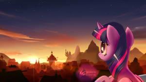 Twilight Sparkle at Ponyville twilight