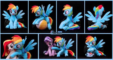 Rainbow Dash plush XL by nekokevin