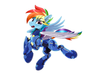 Rainbow Dash in Armor