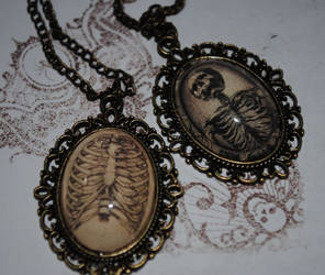 Skeleton Necklaces by OphanimGothique