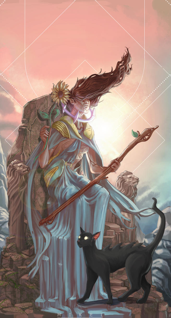 Queen of Wands by i-KEL