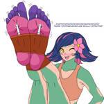 Neeko ticklish feets!