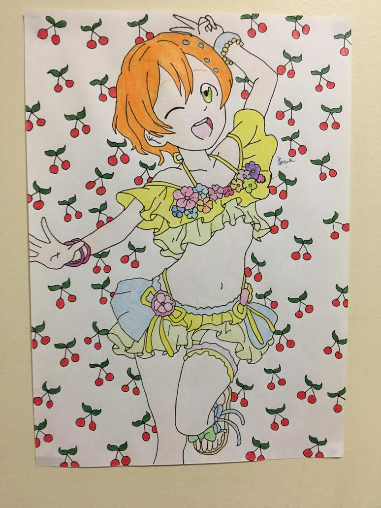 Love Live School Idols Rin Hoshizora Beach Fun!  by Usagicrystal12