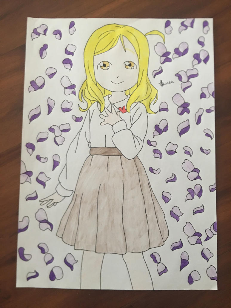 Love Live Sunshine Mari Ohara As A Little Girl  by Usagicrystal12