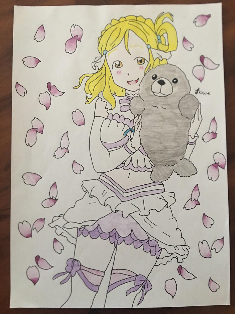 Love Live Sunshine Mari Ohara Cuddling Seal Toy  by Usagicrystal12