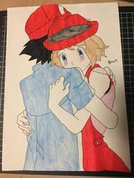Pokemon XYZ Serena And Ash by Usagicrystal12