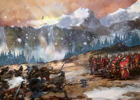 Barbarians and Romans by szalstudio