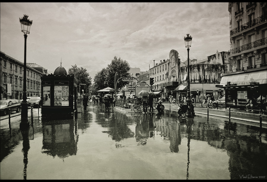 Paris rainy mood by veftenie