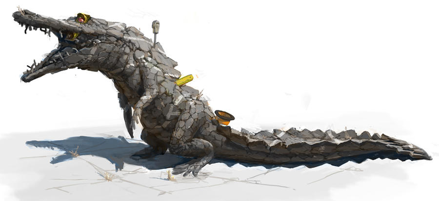 Street Crocodile by ZacharyMadere
