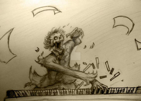 Zombie Beethoven by an0ther-artist