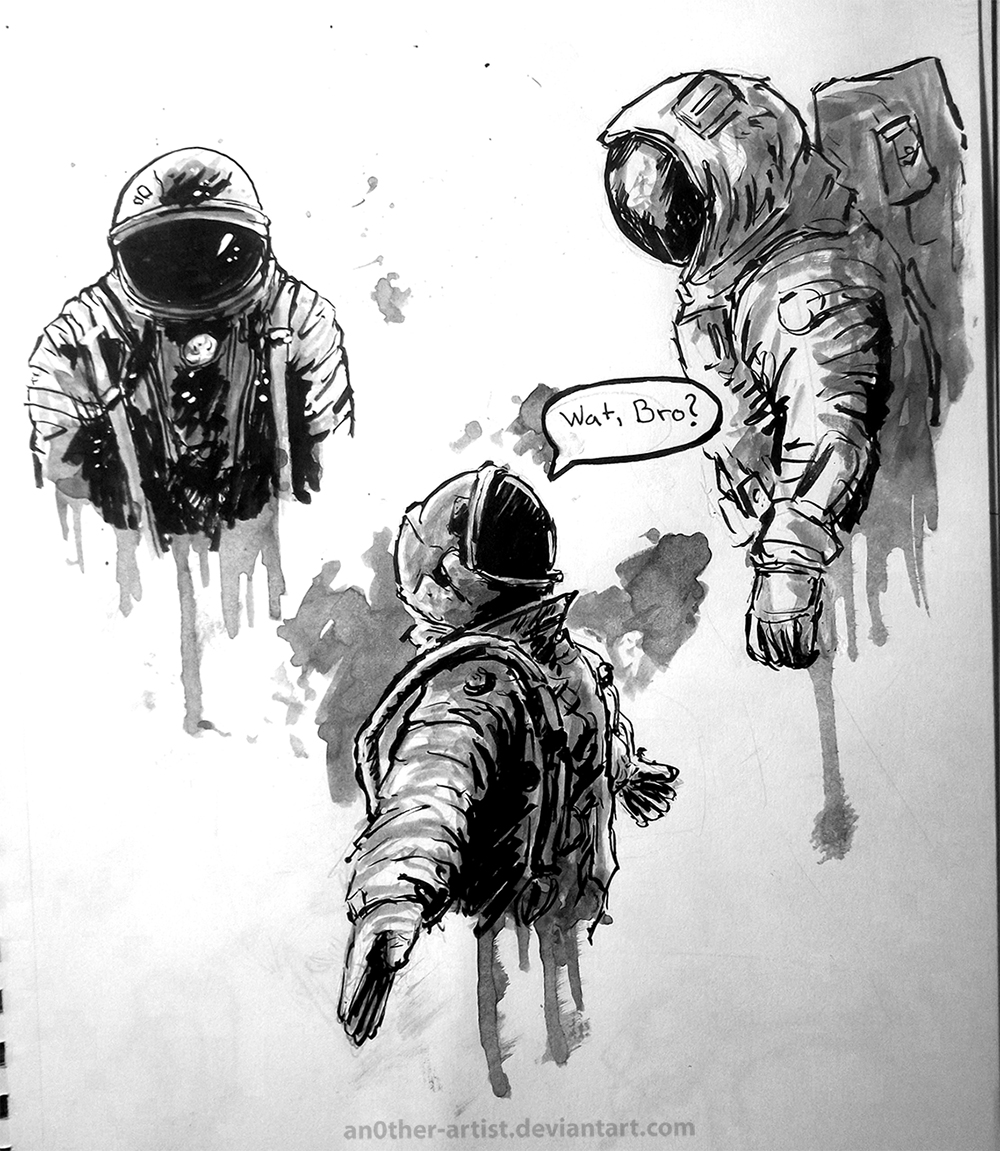 detailed drawings of astronauts - photo #28