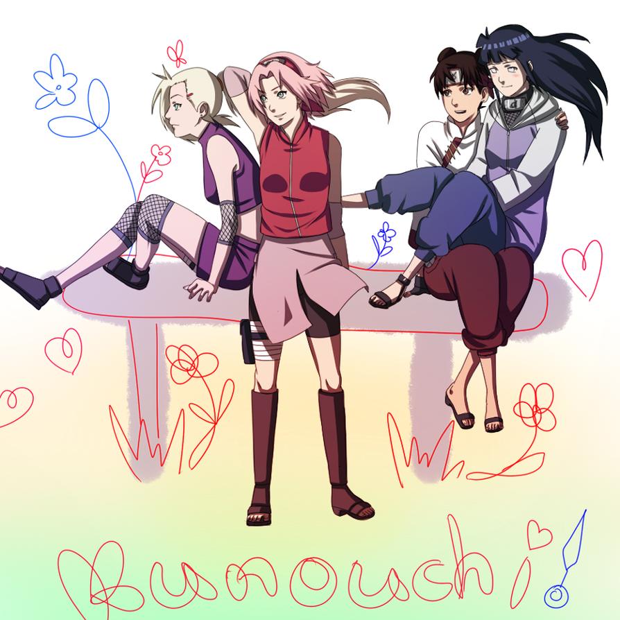Kunoichi Sakura Ino Tenten Hinata by BayneezOne on DeviantArt