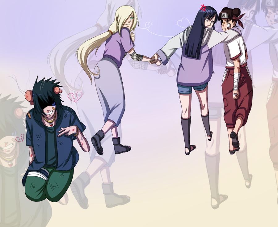 Road to Ninja Hinata Ino Tenten Sasuke by BayneezOne