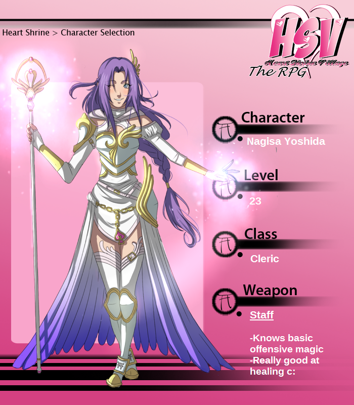 HSV RPG:: Nagisa Yoshida the Cleric by BayneezOne