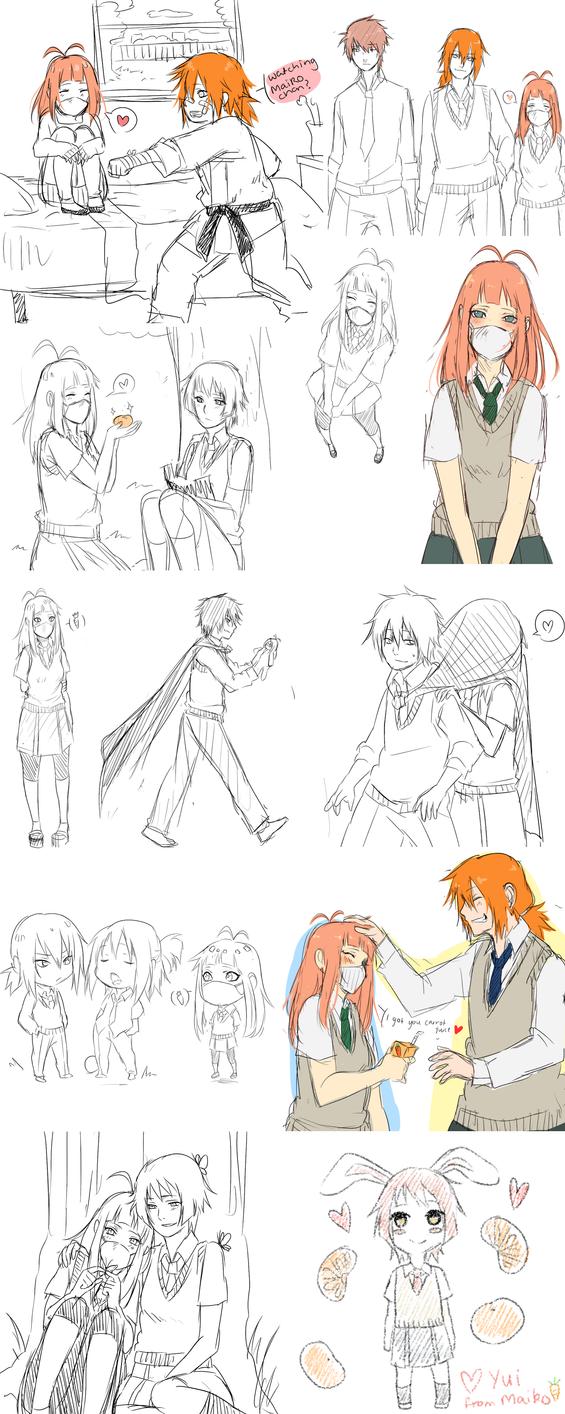 Maiko sketch dump thingy XD by BayneezOne