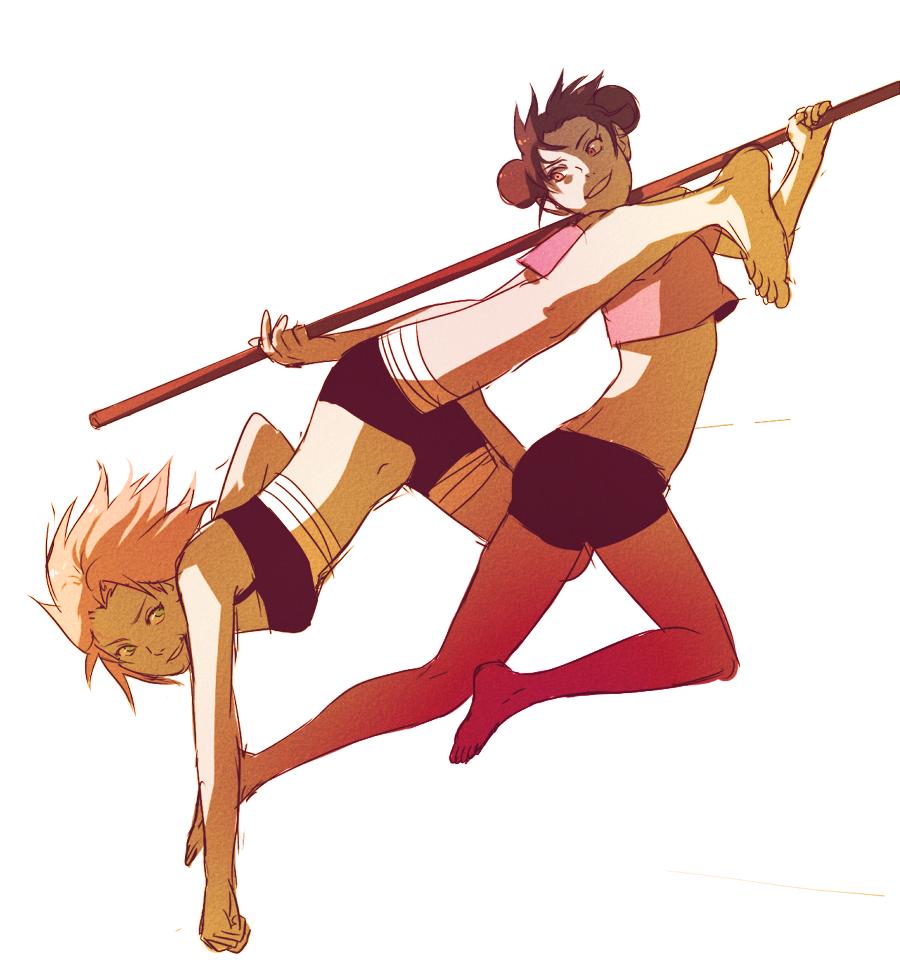 Training With Sakura And Tenten
