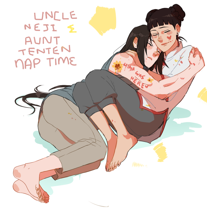 Aunt Tenten and Un---Aunt Neji lets be honest here by BayneezOne