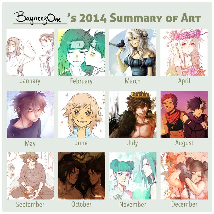 2014 Summary of art by BayneezOne