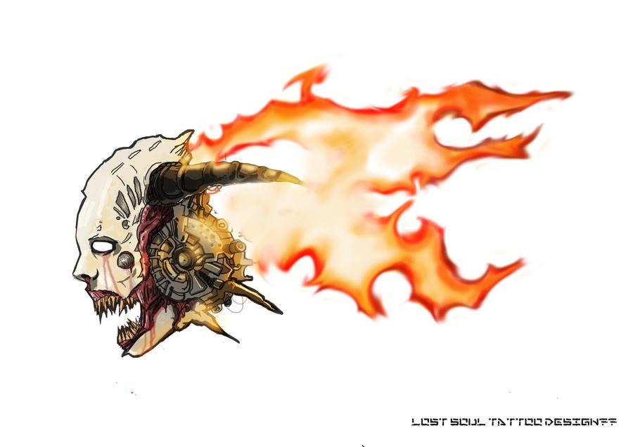 Lost Soul Doom Deviantart: Lost Soul (DOOM3) Tattoo Design By Helios437 On DeviantArt