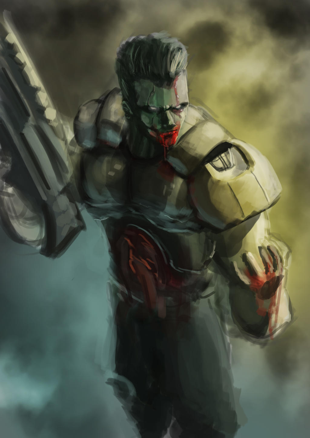 Doom former human speed paint by Helios437